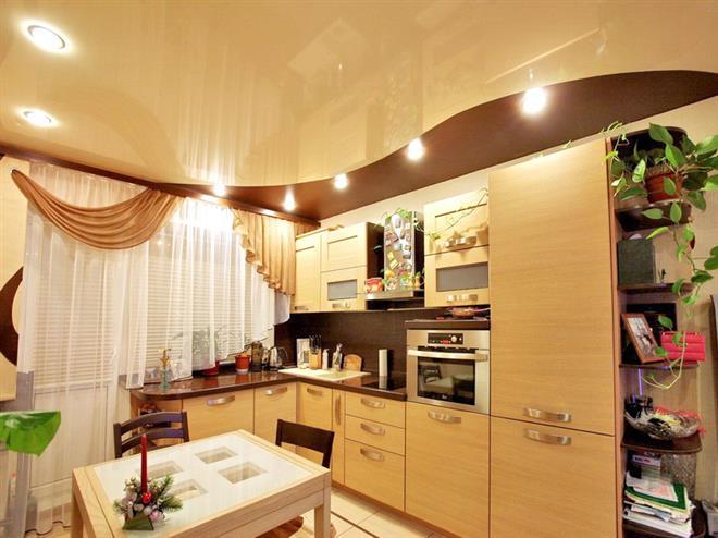 Выбор вида потолка для кухни